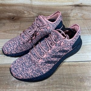 Adidas Pureboost Salmon Pink Black Shoes Boost
